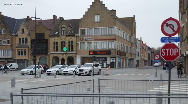 verbod links afslaan Grote Markt Diksmuide